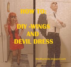 Inspiraatiota etsimässä: HOW TO: wings and devil dress