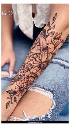 Half Sleeve Tattoos Forearm, Arm Sleeve Tattoos For Women, Forarm Tattoos, Leg Sleeve Tattoo, Shoulder Tattoos For Women, Dope Tattoos, Best Sleeve Tattoos, Pretty Tattoos, Body Art Tattoos