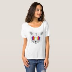 "Favourite shirt HIPPIE CAT "" - animal gift ideas animals and pets diy customize"
