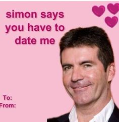 Gotta do what Simon says! Dumb Pick Up Lines, Pick Up Lines Cheesy, Cute Memes, Funny Memes, Meme Valentines Cards, Valentine Wishes, Cheesy Memes, Pinterest Valentines, Luv Letter