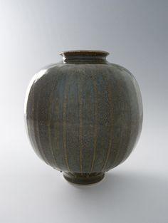 BROTHER THOMAS Vase with Ribbands, Koke Glaze, Porcelain