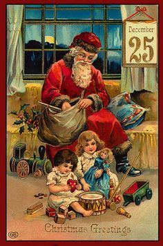Ретро открытки. Новогодние, рождественские.. Обсуждение на LiveInternet - Российский Сервис Онлайн-Дневников