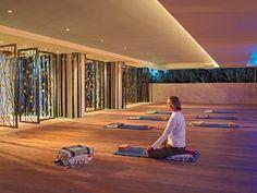 Elegant Yoga Studio Boutique Hotel Interior Design of Canyon Ranch Hotel and Spa, Miami Beach, Florida