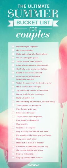Cute idea list of things to do with your significant other