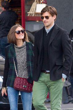 THE OLIVIA PALERMO LOOKBOOK: Olivia Palermo and Johannes Huebl strolling in Paris