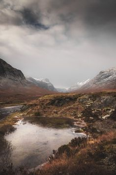 A Frozen Haze, Road Through Glen Coe - The Scottish Highlands
