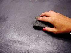 Tutorial for countertops that look similar to cement but much easier to diy.  Could be many different colors as well.  Great idea!!