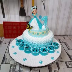 Beautiful Birthday Cake for Kid – birthdaycakeideas Cake Decorating Videos, Birthday Cake Decorating, Cake Decorating Techniques, Birthday Cake For Kids, Doll Cake Designs, Cake Designs For Girl, Cupcake Videos, Cake Hacks, Ballerina Cakes