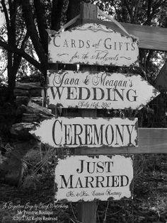 primitive Wedding SIGNS | Vintage Wedding Signs by My Primitive Boutique
