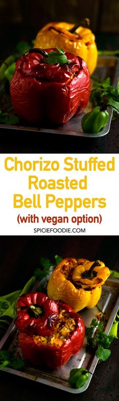 Chorizo Stuffed Bell Peppers (with