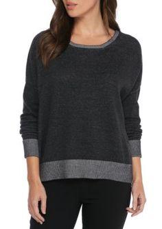Eileen Fisher Women's Bateau Neck Long Sleeve Sweater Women's - Gray - Xxs