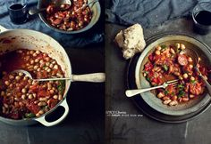 Spicy Chorizo, red capsicum, tomato and mixed bean stew - What Katie Ate » Tapas-style foodie ideas…