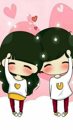 Love Cartoon Couple, Chibi Couple, Cute Couple Art, Cute Couple Pictures, Kawaii Chibi, Cute Chibi, Anime Chibi, Illustration Art Nouveau, Cute Girl Wallpaper