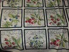 Susan Winget La Cerise Block Print 44  x 42  100 Cotton   eBay