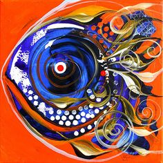 """Acrylic Painting Ideas   Ire Compliment Fish"""" Abstract Fish Art from (2010) J. Vincent ..."""