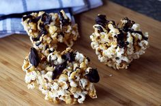 Dark Chocolate Salted Caramel Popcorn Balls by BethMichelle: Pretty enough for a party! #Popcorn #Popcorn_Balls #Salted_Caramel #Chocolate