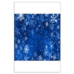 Snowflakes_Background_Texture Posters