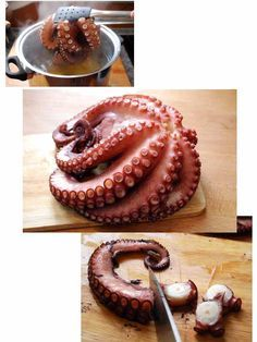 undefined Et Yemekleri How To Cook Octopus, How To Cook Fish, Seafood Dishes, Seafood Recipes, Cooking Time, Cooking Recipes, Octopus Recipes, Peruvian Recipes, Salads