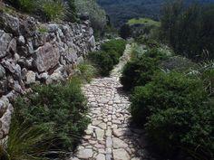 Detail of the Roman Road at Santa Agueda, Minorca (or Menorca) Balearic Islands