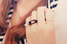 rectangular rings.