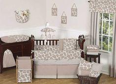Giraffe Crib Bedding Set by Sweet Jojo Designs - 9 piece