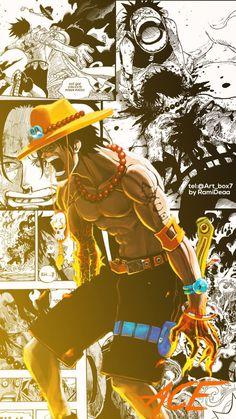 Wallpaper Anime One Piece 29 Best Ideas One Piece Ace, Zoro One Piece, One Piece Comic, One Piece Fanart, Anime Collage, Anime Art, Tatoo Manga, Anime Shop, One Piece Wallpaper Iphone