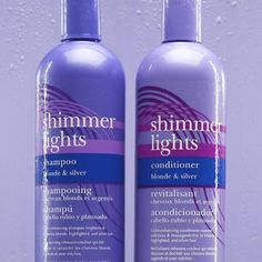 2️⃣ is better than 1️⃣! Pair #ShimmerLights Shampoo & Conditioner to tone down brassiness, moisturize and refresh your blonde and silver hair. This iconic brass-kicking duo is available at @sallybeauty. #ClairolProfessional Silver Blonde, Silver Hair, Shimmer Lights, Blonde Highlights, Shampoo And Conditioner, Moisturizer, Brass, Collection, Color
