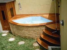 Home Simple Design Patio 36 Super Ideas Small Swimming Pools, Small Backyard Pools, Small Pools, Mini Piscina, Small Patio Design, Mini Pool, Small Space Bathroom, Dream Pools, Garden Pool