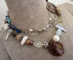 Beachy necklace by my favorite jewelry artist