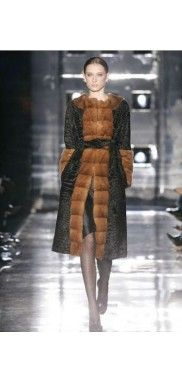 Fashion Mink Fur Coat Swakara Lamb Broadtail Mink Fur Sable