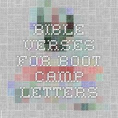 Bible verses for boot camp letters