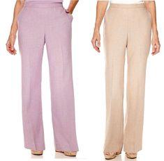 Alfred Dunner Women Pants Lavender Fields Pull on Polyester size 14 16 18 NEW   16.99 https://www.ebay.com/itm/232532521574