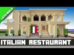 Minecraft Let's Build/Tutorial - Italian Restaurant - Part 3 - YouTube by faye