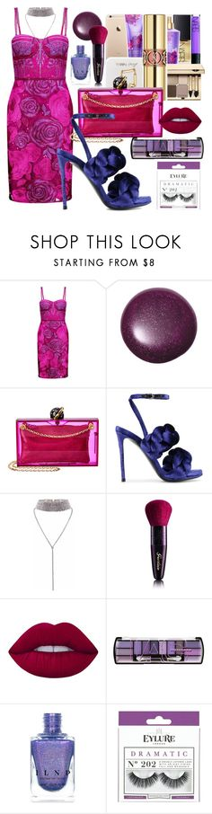 """Love - Kendrick Lamar"" by annabidel ❤ liked on Polyvore featuring Notte by Marchesa, Charlotte Olympia, Marco de Vincenzo, Lime Crime, L.A. Colors and eylure"