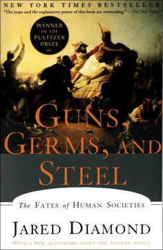 "coverspy: "" Guns, Germs, and Steel, Jared Diamond (F, 30s, purple hair, flipping through book, 6 train) """