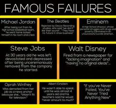 Famous Failures: if you have never failed, you'll never succeed #entrepreneur