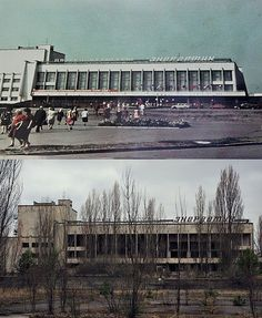 Chernobyl & Pripyat: The Palace of Culture - before & after. (See more: http://www.flickr.com/groups/62854060@N00/ Read more: http://en.wikipedia.org/wiki/Chernobyl_disaster)