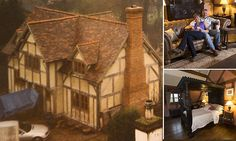 Truly historic achievement! Couple learn plumbing, roof tiling and 16th-century carpentry to build their own Tudor home for £200,000... complete with low ceilings and overhanging first floor