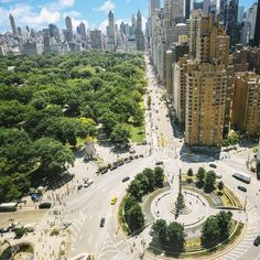Aerial photo of Columbus Circle, NYC Columbus Circle, City That Never Sleeps, Concrete Jungle, Gotham City, That Way, New York City, Nyc, River, Instagram Posts