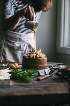 Gluten Free Chocolate Cake with Popcorn | The Almond Eater