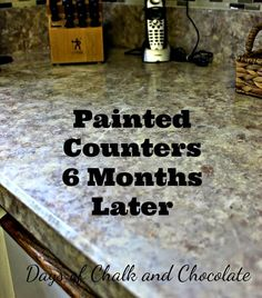 How To Paint Countertops That Look Like Granite At A