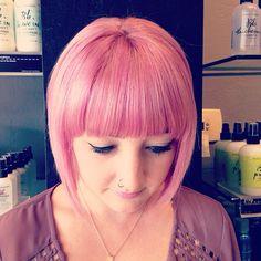 Inspiration by ashley mcgrath. #pinkhair #pastel #wella #wellaeducation #thelofthairdesign @bloomdotcom