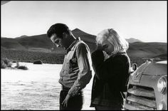 Montgomery Clift and Marilyn Monroe in The Misfits, 1961. Photographer Eve Arnold.