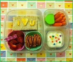 I love you school lunch - via The Lucky Lunch | packed in @EasyLunchboxes containers