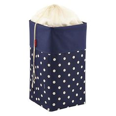 Navy & Sand Dots Laundry Box by reisenthel