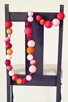 Glittery Styrofoam balls...craft for the kids