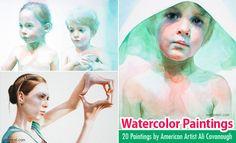 20 Beautiful Watercolor Painting by American Artist Ali Cavanaugh. Read full article: http://webneel.com/watercolor-paintings | more http://webneel.com/paintings | Follow us www.pinterest.com/webneel