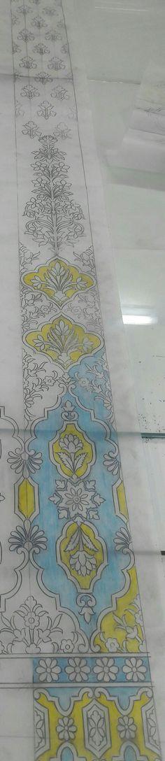 Embroidery Designs, Types Of Embroidery, Folk Embroidery, Indian Embroidery, Embroidery Files, May Arts, Silk Art, Stencils, Stencil Designs