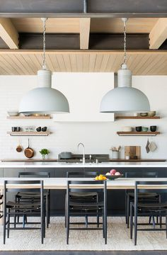 Timeless Modern Mountain Home. Brittany Hianes of ABD Studio Modern Mountain Home, Mountain Houses, Modern Lodge, Modern Home Interior Design, New Kitchen Cabinets, Modern Ceiling, Southern Homes, Home Decor Kitchen, Warm Kitchen