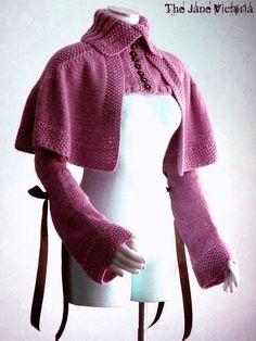 Mantelet Knitting PATTERN, R. E. Linwelin, PDF DOWNLOAD $5.00